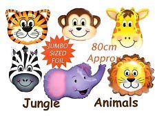 Zoo Jungle Animal Jumbo Foil Balloon Lion Tiger Zebra Elephant Giraffe Monkey