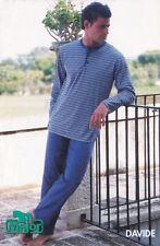 Pigiama uomo cotone 100% jersey scollo serafino, tessuto Marzotto art. Davide