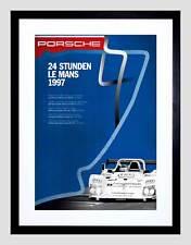 Pubblicità automobile auto le mans RACE digiuni Nero Framed Art Print PICTURE b12x5564