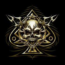 Gothic Biker Tattoo Tribal Piraten T-Shirt Skull metal Totenkopf  *4119 bl