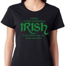 SMART GOOD LOOKING IRISH funny Saint Patrick's Day shamrock Women's T-Shirt