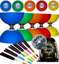 CYCLONE CLASSIC Triple Bearing Diabolo Set + Metal Handsticks +Tricks DVD + Bag