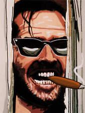 JACK NICHOLSON CIGAR PRINT poster the shining movie horror film smoking cohiba