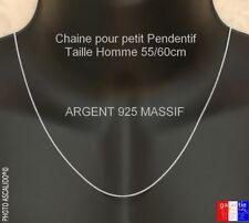 longue chaine pour Homme En argent massif 925 pour petit pendentif  55cm ou 60cm