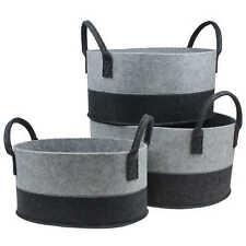 Filzkorb Körbe oval schwarz grau  Größen-Auswahl Korb Aufbewahrung Regalkorb