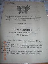 REGIO DECRETO 1867 CONSOLATI TANGERI CORFù ADDETTI VICE-CONSOLI DI 1^CATEGORIA