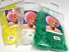 Perücke Hair Locken Weiß, Gelb oder Grün Farbwahl möglich  Karneval Fasching
