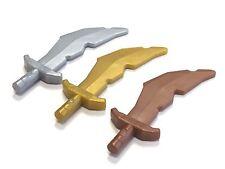 LEGO 60752 Weapon Sword, Scimitar with Nicks - Select Colour - FREE P&P!
