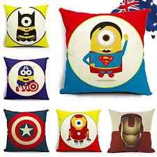 45x45 Linen Cotton Throw Pillow Case Sofa Cushion Cover Iron Man Captain HPICA85