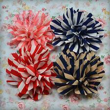 Grand résultat 10cm Satin Soyeux clips cheveux fleur en tissu Bobbles demoiselle d'honneur nuptiale