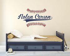 Custom Name Baseball Wall Decal Bedroom Boys Baseball Wall Art Vinyl Sticker