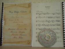 Telemann 3 Partiten 21 Tänze für Tenorhorn in B - Noten+Begleit-CD
