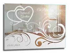 ♥ Motivspiegel Herz 2 ♥ Spiegel mit Gravur ♥ Geschenk für Verliebte ♥ Liebe Love