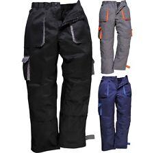 Mens Portwest Contrast Cotton Rich Work Trousers (TX11)
