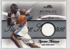 2004 Fleer Showcase Supreme Silver Jersey SS-BW Ben Wallace Detroit Pistons Card
