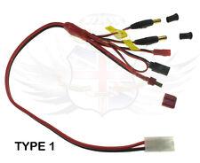 Control De Radio Rc de carga de la batería, adaptador de balance del arnés, Deans, JR, JST, FUTABA, t1