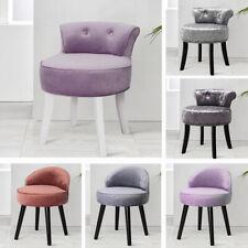 Velvet/Crushed Makeup Chair Footstool Footrest Dressing Table Stool Bedroom UK