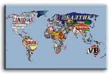 di qualità TELA ART Birra Mappa del Mondo MOLTE TAGLIE