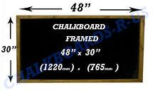 CHALKBOARDS - BLACKBOARDS  - MENU BOARDS - VARIOUS SIZES AVAILABLE - DARK OAK