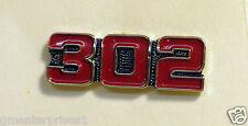 302 Engine Pin (Dark Red) Badge Hat Tack  *** Nicer than Picture