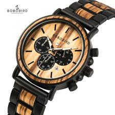 BOBO BIRD W-P09 Wooden Watch Men Luxury Stylish Wood Timepieces Chronograph
