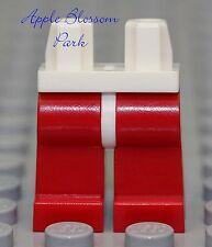NEW Lego Minifig Plain RED LEGS w/White Hips - Boy City/Worker/Firefighter/Santa