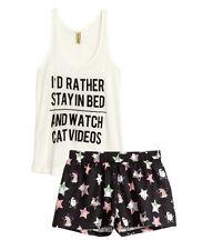 H&M Pyjama mit Shorts  / Schlafanzug Gr. XS, S,  M, L *2 Farben**NEU!*