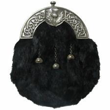 Tartanista - Sporran de cérémonie Deluxe - emblème écossais - fourrure