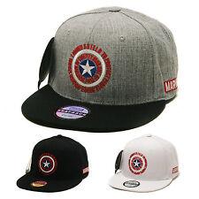 Unisex Mens Marvel Licensed Captain America Shield Baseball Cap Snapback Hats