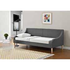 [en.casa]® Tagesbett 90 x 200 cm Schlafsofa Bett Textil Bettgestell Schlafzimmer