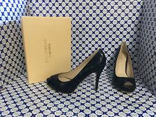 Scarpe Tacco 10 Menbur Donna - Open Toe Pitone Plato Interno - Blu - 7283