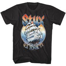 Styx USA American Tour 1977 Ship Mens T Shirt Mast Rock Band Album Concert Merch