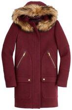 350$ J.Crew Chateau Parka Italian Stadium Cloth Wool Coat HEATHER FIRE RED 0, 10