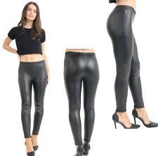 Women Ice Silk Shiny Open Crotch Long Sheer Pants See Through Elastic Legging HG