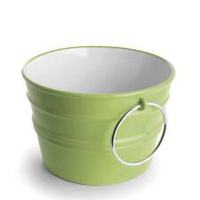 Rundes Aufsatzbecken/wandhängend Waschbecken Bacile Grün 46,5xH30cm Keramik