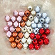 Perles MAGIQUES MIRACLES - RONDES - ROUGE COGNAC BEIGE ROSE BLEU  - 10 mm -
