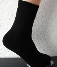 2 Paar Damen Thermo Winter Socken ohne Gummi extra warm schwarz 35 bis 42