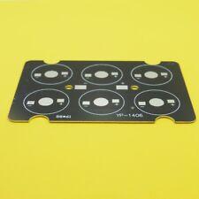 6 LED 1W/3W/5W PCB placa de aluminio placa base de alimentación del disipador térmico Negro