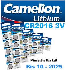Camelion CR2016 Lithium Knopfzellen 3V DL2016 Batterie Alarmanlagen Computer