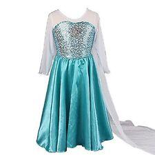 Freshbaffs® Stunning Ice Queen Deluxe Train Costume Fancy Dress For Girls