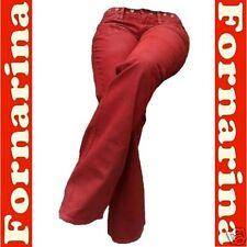 2.Wahl Fornarina Pike Cherry Rock Stretch Nieten Leder Hose Optik JEANS g.27/34
