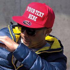 Gorras Snapback Personalizado ~ cualquier texto impreso ~ Camionero Rapero Béisbol Hip Hop