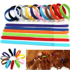 12 Farbe Welpen ID Halsbänder Klettband Welpenhalsband new für Hunde Katzen