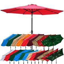8ft/9ft/10ft/13ft Outdoor Patio Aluminum Umbrella Common/LED Option Beach Garden