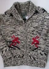 NWT Ralph Lauren L- RL Active Women Shawl Collar Ski Sweater Cardigan Size M