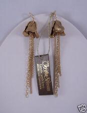 Citrine by the Stones Rosebud Bell Earrings Gold NWT