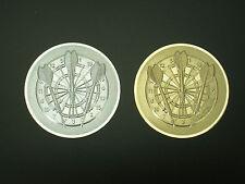 DART ALU Embleme im 3er Pack, 50 mm in Gold.- und Silberfarben