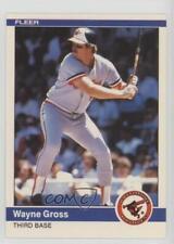 1984 Fleer Update #U-45 Wayne Gross Baltimore Orioles Baseball Card