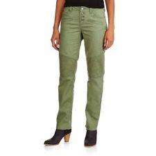"Womens Chopper Moto Straight Jeans XS size 2 Graphite Gray Green STRETCH ins 31"""