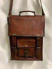 Vintage amazing leather messenger Retro shoulder laptop handmade satchel bag